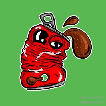 Coke Coca Cola Sad Can Illustration Cartoon 3 Squeeb Creative