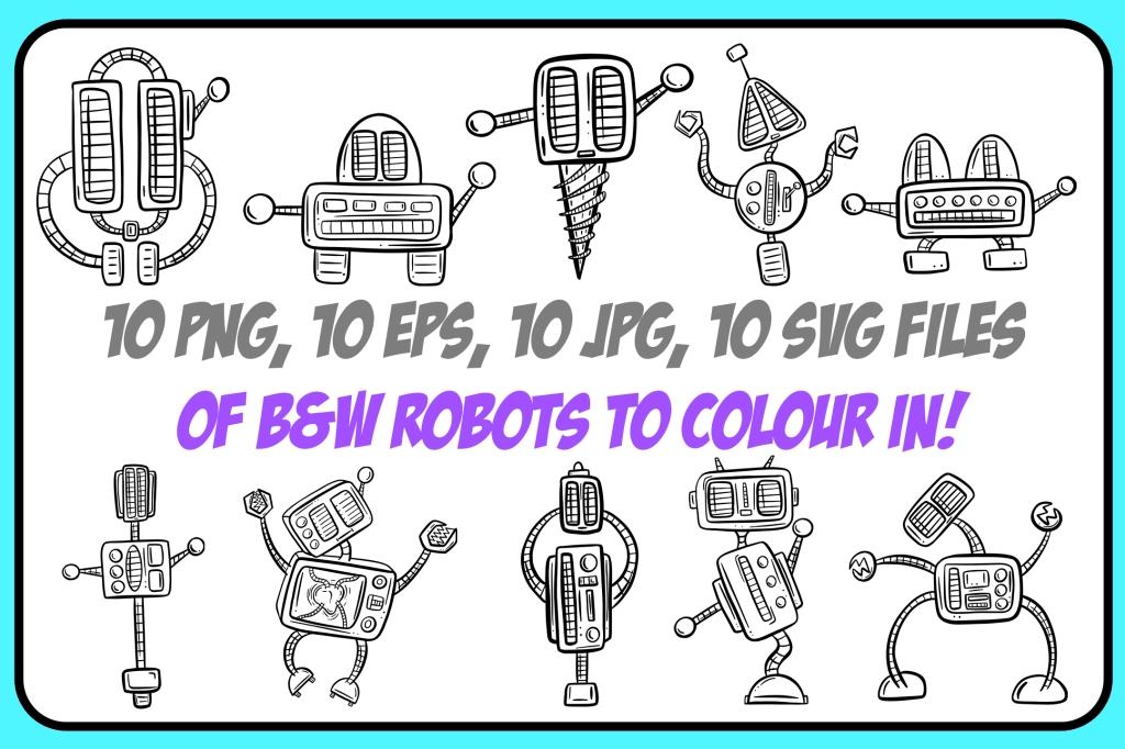 Design Bundle Robot Collection cartoons Squeeb Creative