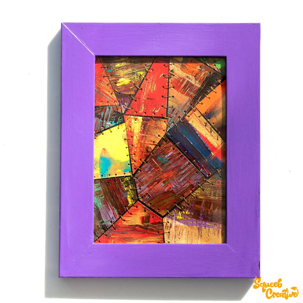 Abstract Frankenstein Stitched Artwork Painting Squeeb Creative