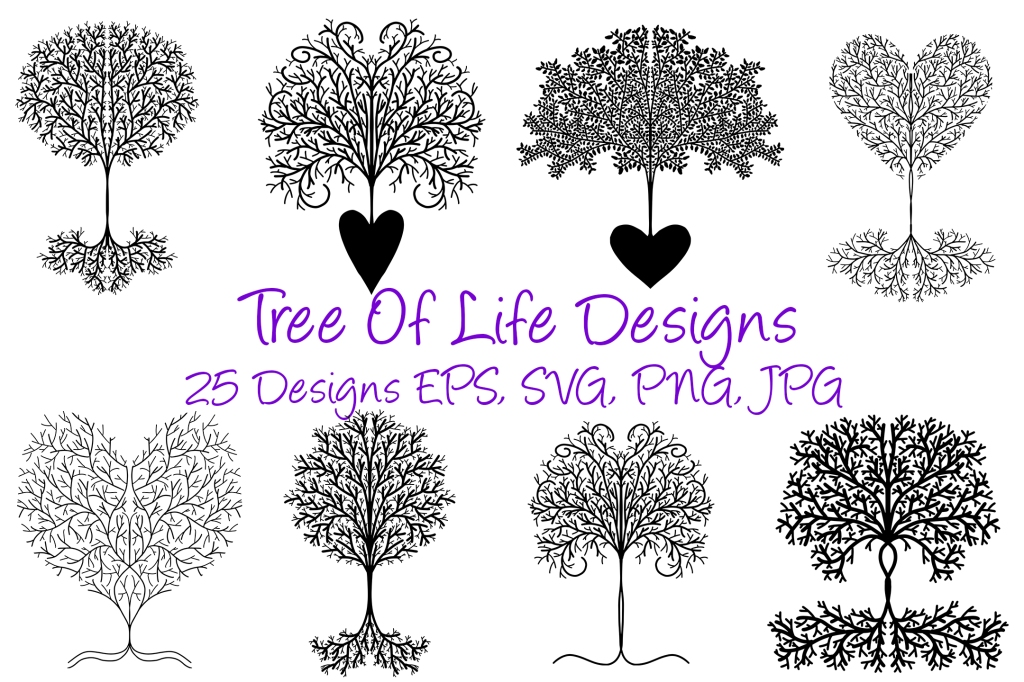 Tree Of Life SVG Illustration Collection By Squeeb Creative