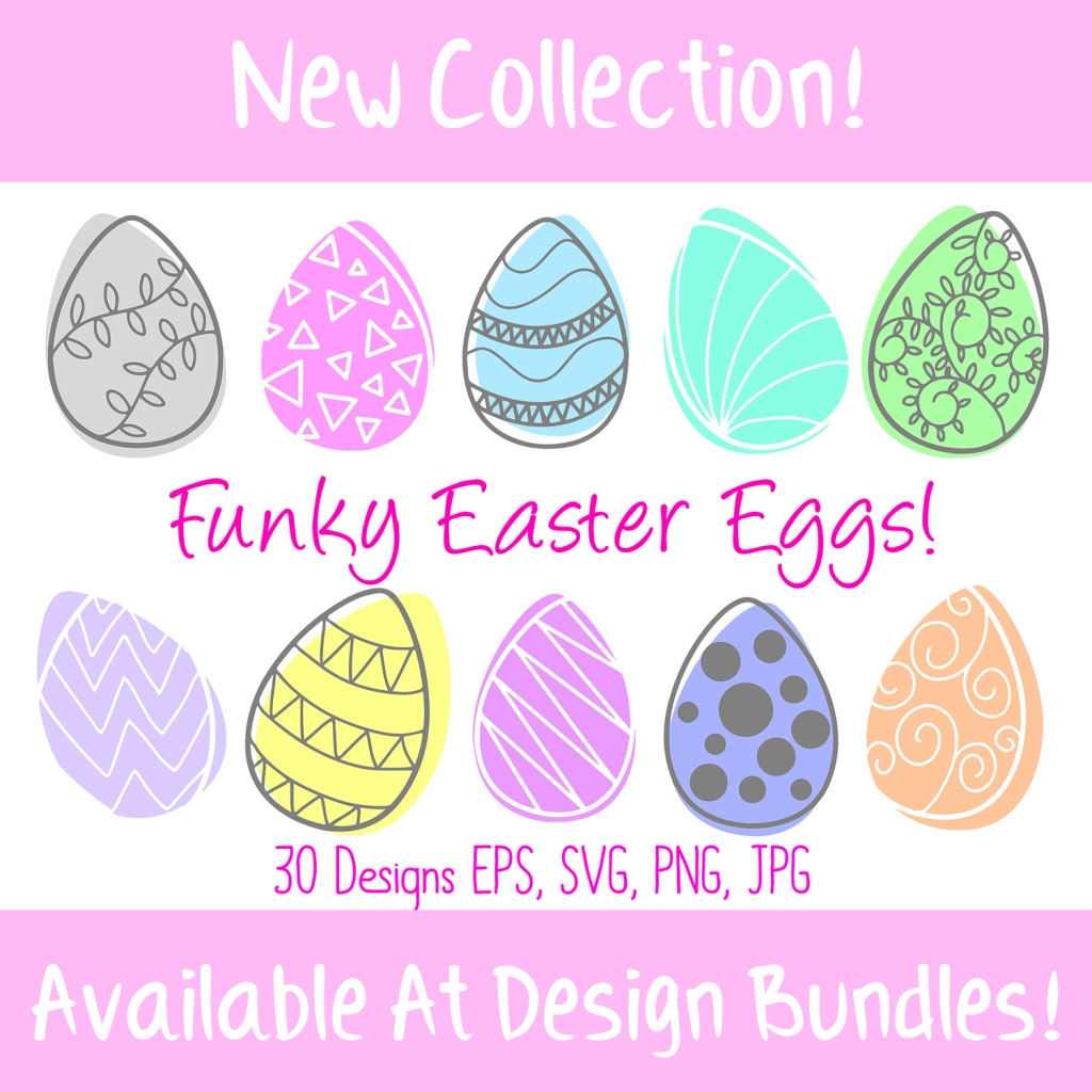 Easter Time! Easter Egg SVG Illustration Collection FREE DOWNLOAD squeeb creative