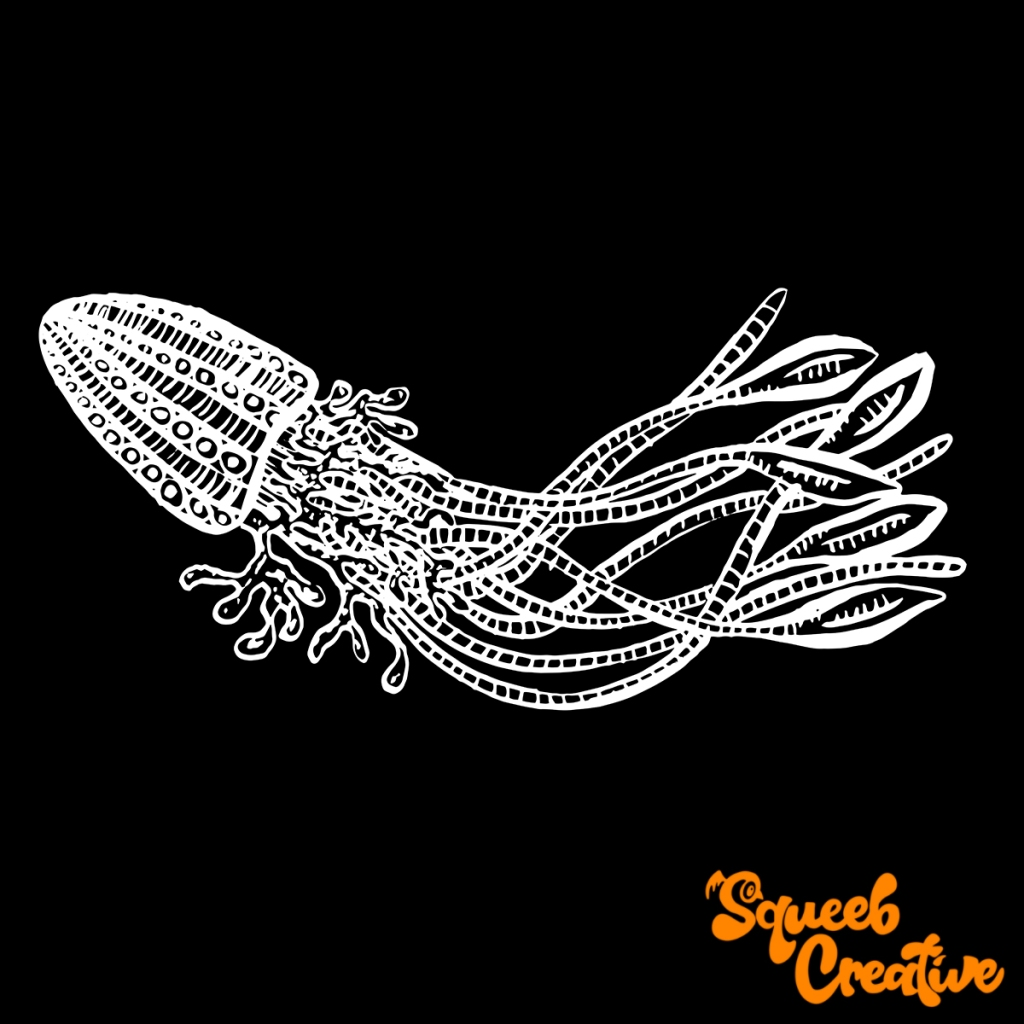 Deep Sea Jellyfish Cartoon Illustration Squeeb Creative