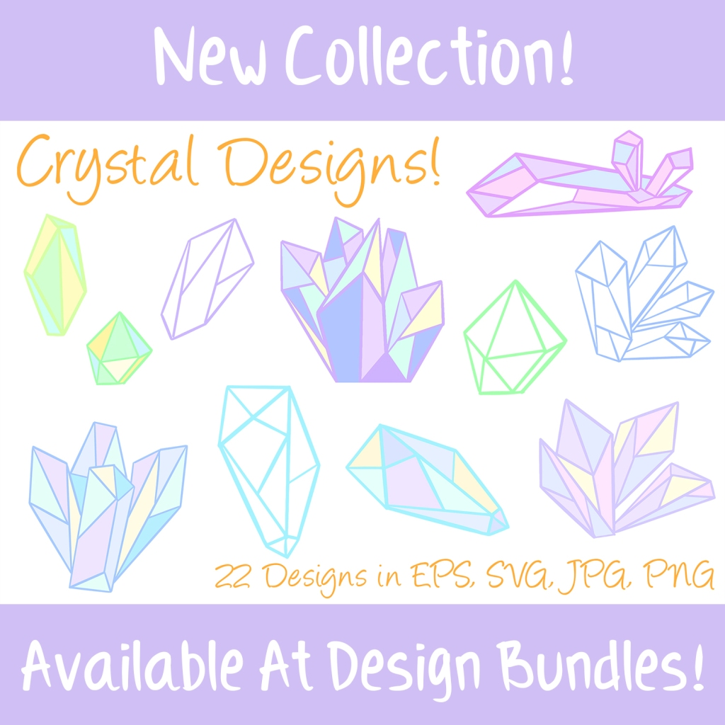 Meditation Healing Crystals Illustration Collection By Squeeb Creative
