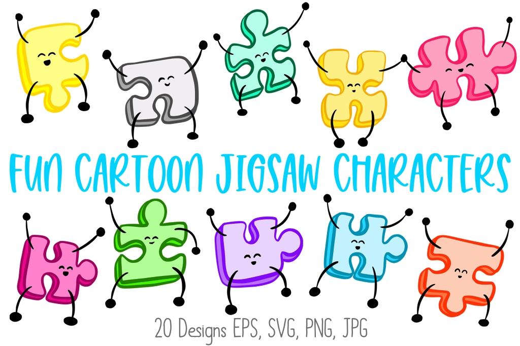 Cartoon Jigsaw Puzzle Cartoon Characters Squeeb Creative