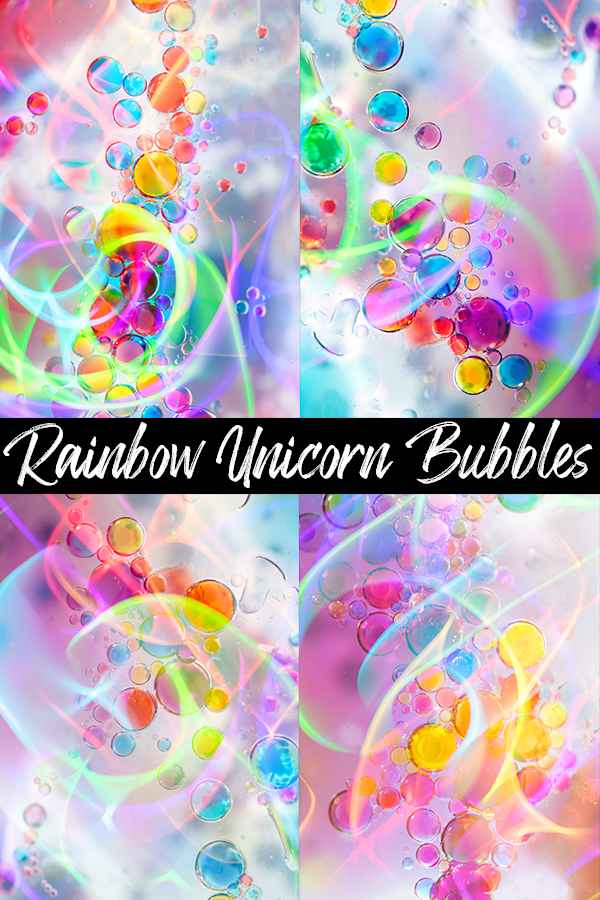 Unicorn Mystical Bubbles Abstract Photography by Squeeb Creative