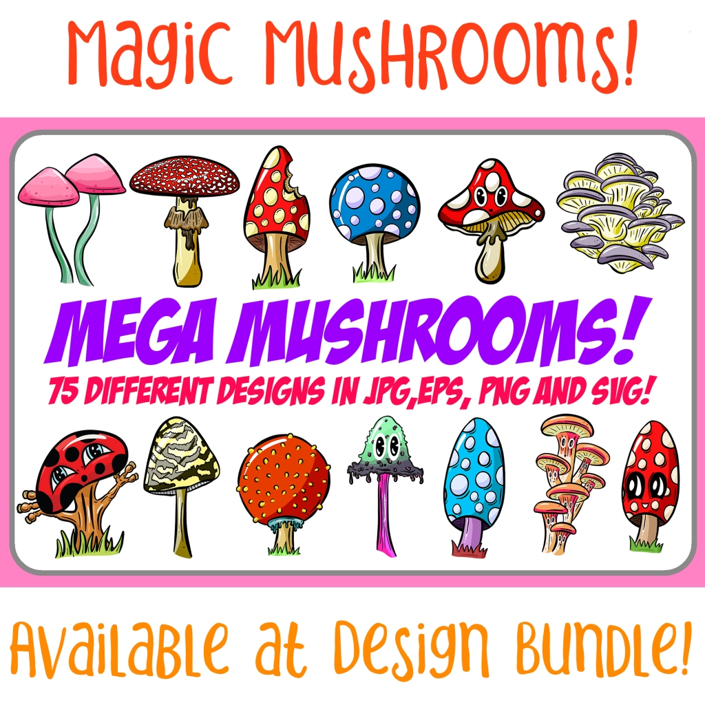 Collection of Mushrooms and Toadstools Squeeb Creative