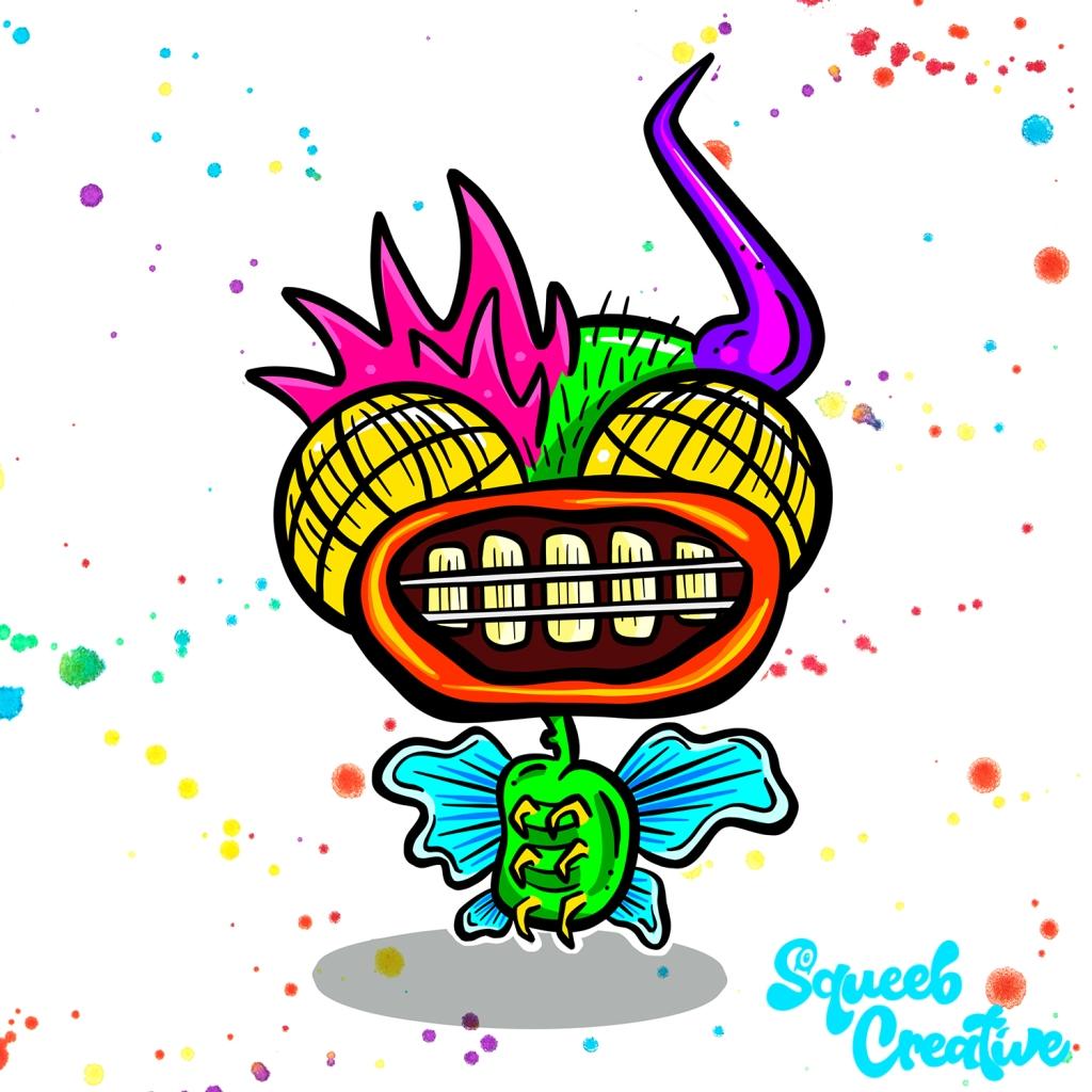 Fly Mutant 90s Cartoon Logo Squeeb Creative Rude Dog and The Dweebs