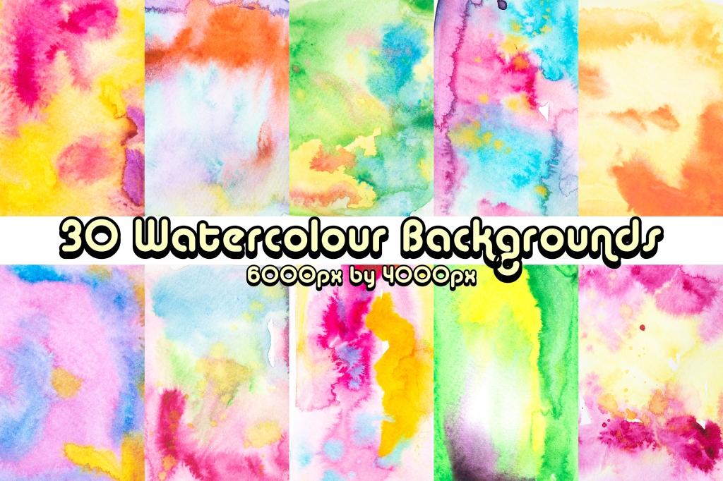 30 Watercolour Vibrant Paint Download Backgrounds Squeeb Creative