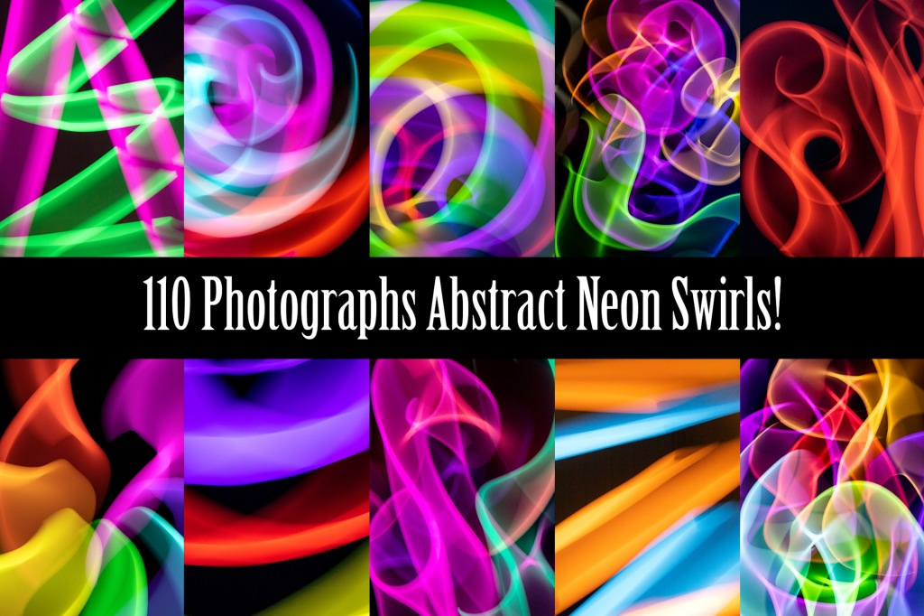 Abstract Neon Swirls Backgrounds Photography Download by Squeeb Creative