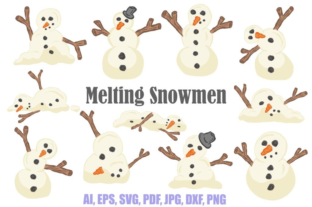 Cartoon DIY Snow Characters Design Bundles Collection Squeeb Creative