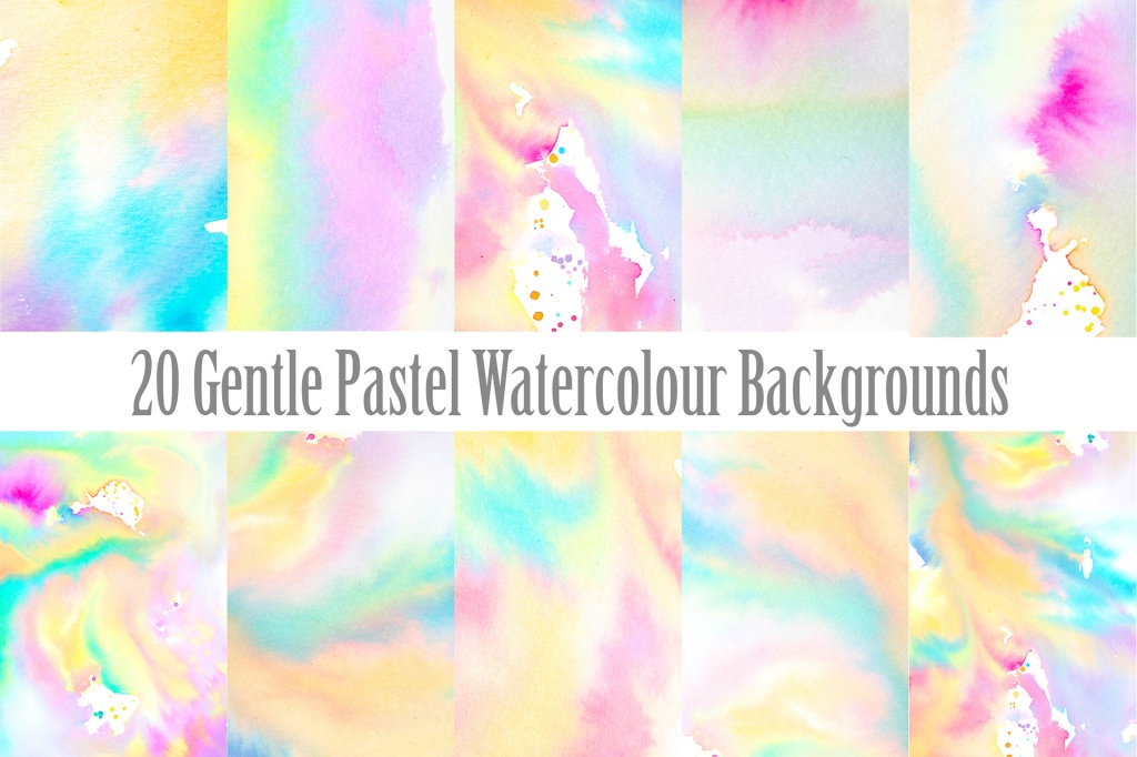 Gentle Pastel Watercolour Backgrounds Download Collection By Squeeb Creaive