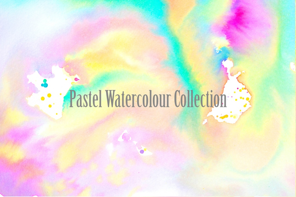 Gentle Pastel Watercolour Wash Backgrounds by Squeeb Creative