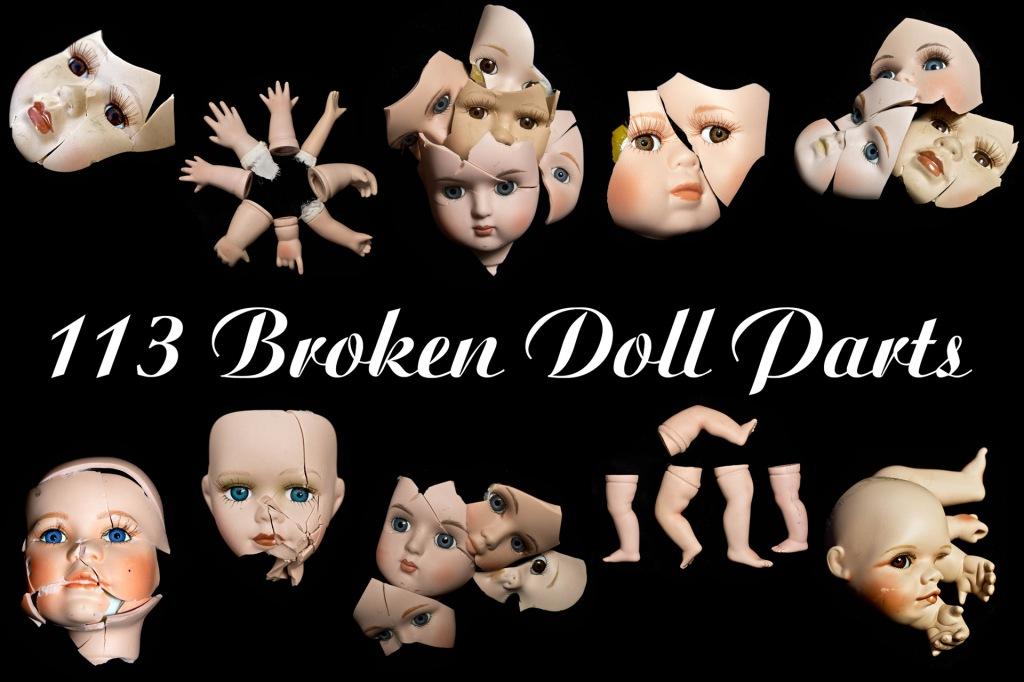 Happy Halloween Broken Doll Parts Photography by Squeeb Creative