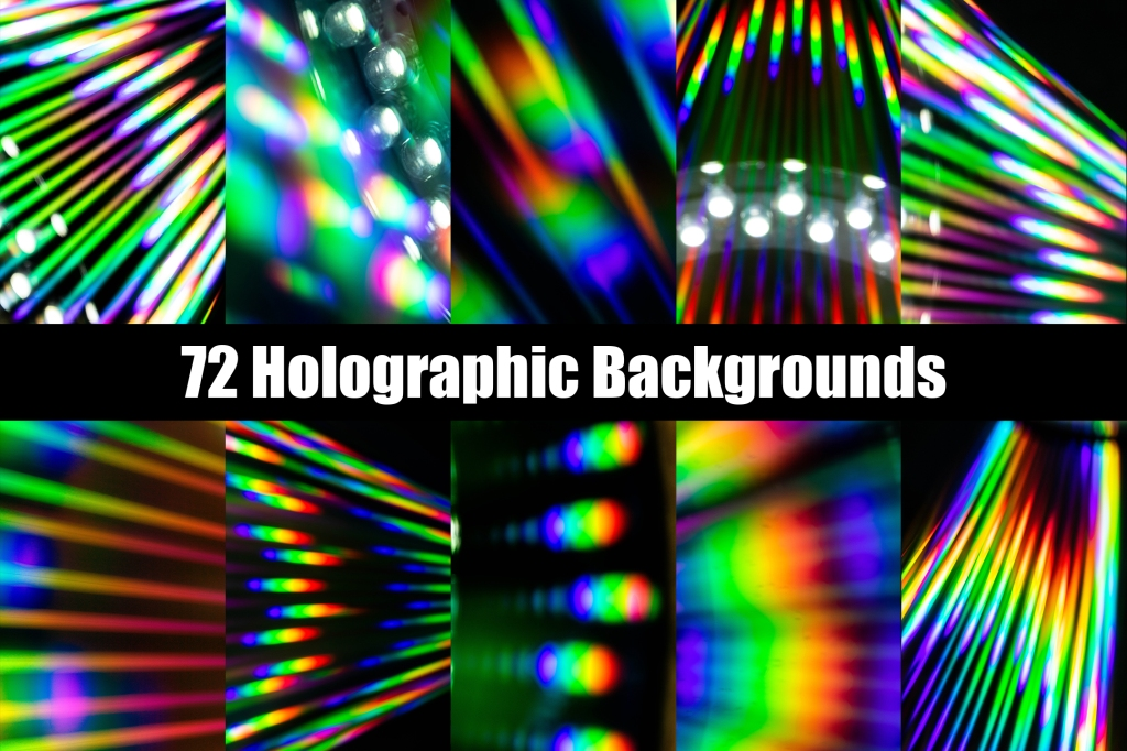 Holographic CD Neon Rainbow Backgrounds Collection by Squeeb Creative copy