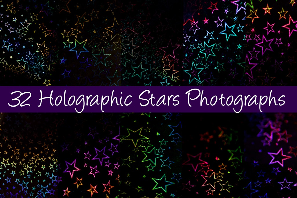Holographic Stars Background Photography Collection by Squeeb Creative