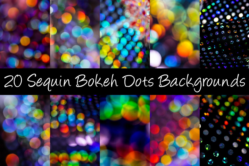 Sequin Bokeh Backgrounds Photography Download by Squeeb Creative