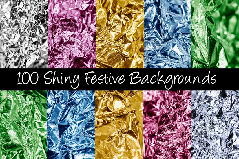 shiny 100 festive foil backgrounds Shiny by Squeeb Creative