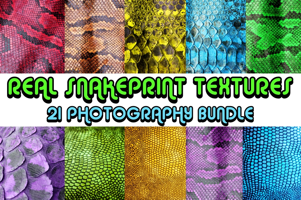 real snakeprint snake skin texture backgrounds in vibrant colours for download by Squeeb Creative