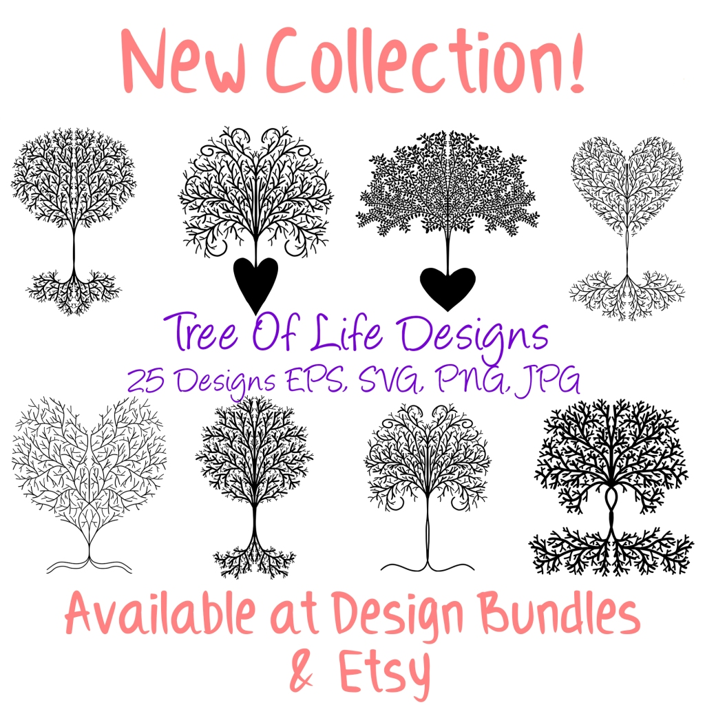 25 Tree Of Life Black Template SVG, JPG, EPS, SVG Files Download by Squeeb Creative