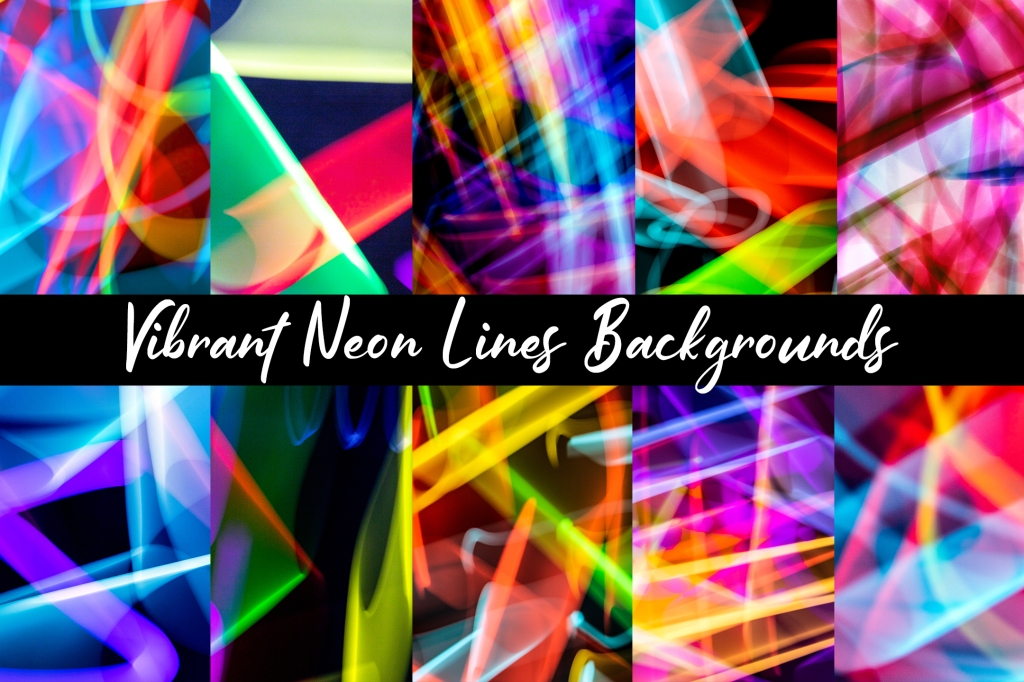 Abstract Neon Lights Digital Paper Background Download by Squeeb Creative
