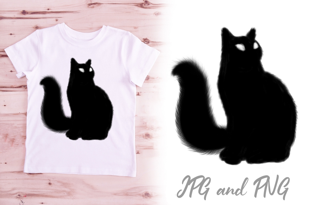 Lucky Black Cat Illustration Logo Download Design by Squeeb Creative