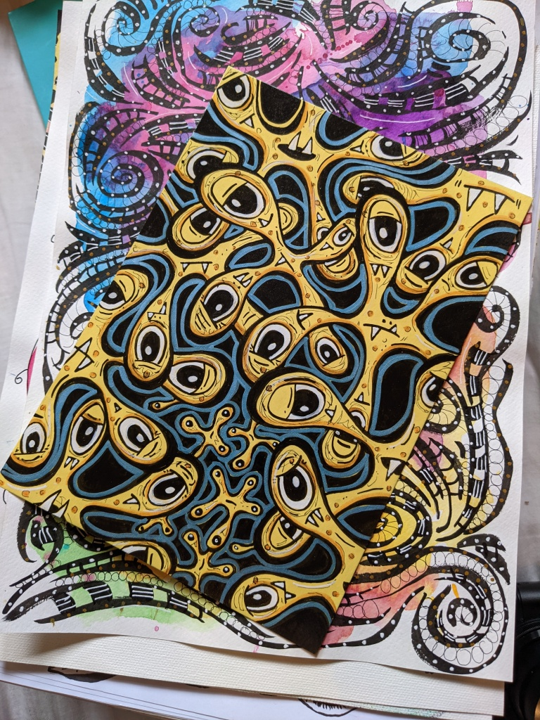 Posca pen and ink lowbrow doodle by Squeeb Creative