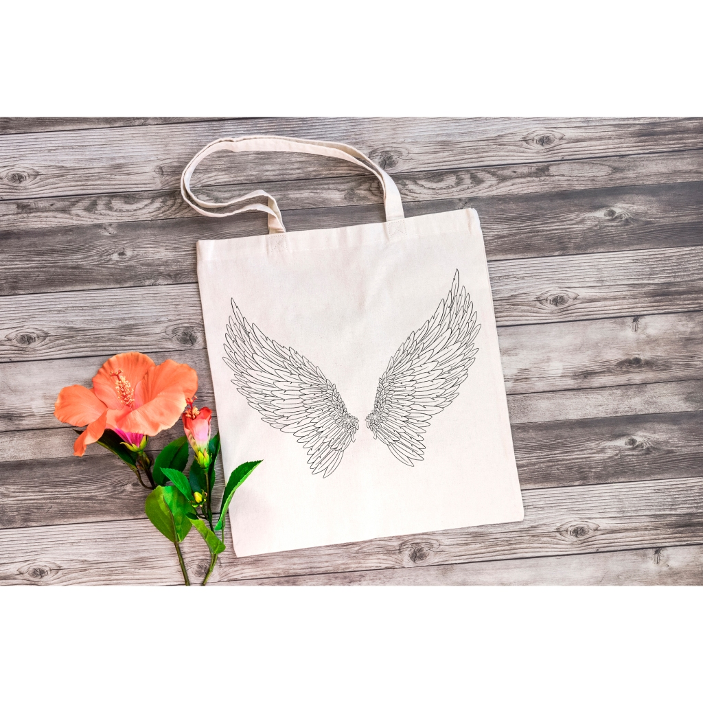 Festive Angel Wings Illustration Download Collection by Squeeb Creative