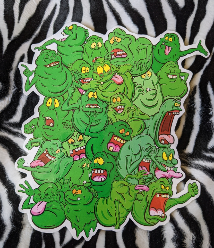 Real Ghostbusters Slimer Montage Cartoon Handmade Epic Sticker by Squeeb Creative