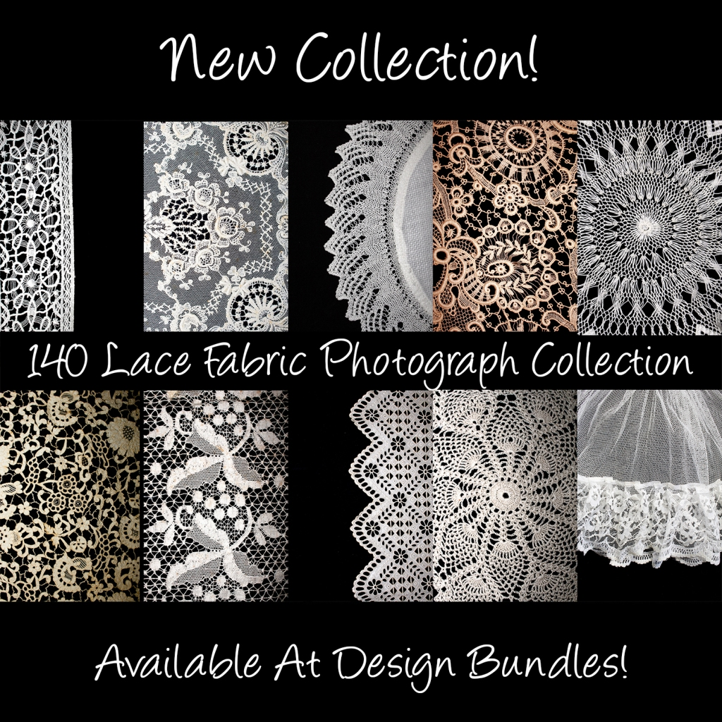 Vintage Lace Close Up Photograph Collection by Squeeb Creative