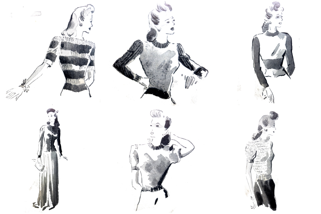 30 Vintage Retro Sewing Fashion Lady PNG Craft Collection by Squeeb Creative