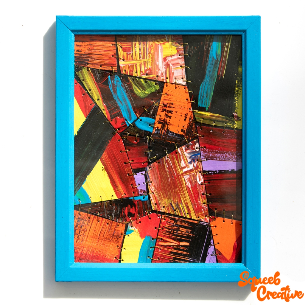 Acrylic and Ink Abstract Painting Art by Squeeb Creative Artist
